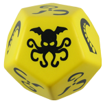 Giant Cthulhu Dice (Yellow Die w/Black Ink) cover