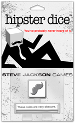Hipster Dice (T.O.S.) -  Steve Jackson Games