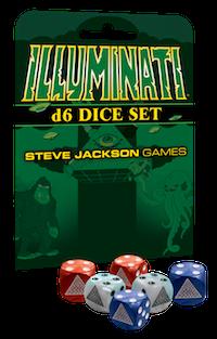 Illuminati D6 Dice Set -  Steve Jackson Games