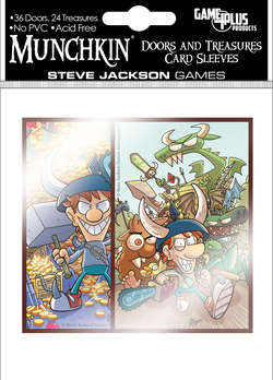 Cover for Munchkin Doors and Treasures Card Sleeves (60 Count)