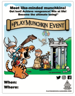 Cover for #PlayMunchkin Printable Posters