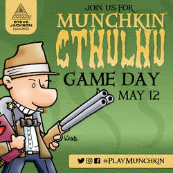 Cover for #PlayMunchkin Cthulhu Game Day - Social Media Ads