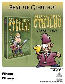 Cover for #PlayMunchkin Cthulhu Game Day - Poster