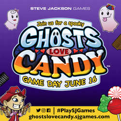 Cover for #PlaySJGames Ghosts Love Candy Game Day - Social Media Ads