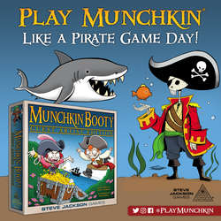 Cover for Play Munchkin Like A Pirate Game Day Social Media Assets