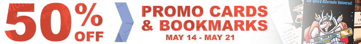 Banner link to Munchkin Promo Cards & Bookmarks Sale!