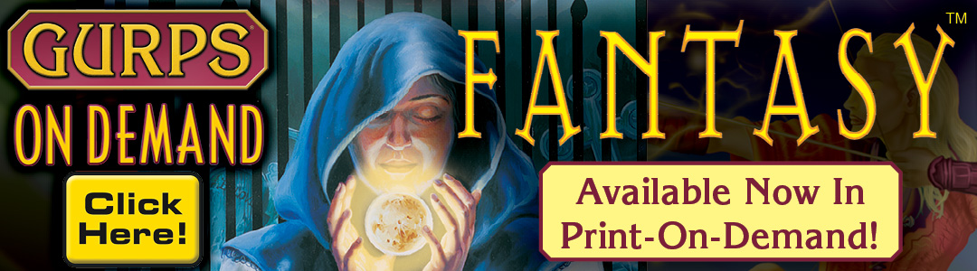 Banner link to GURPS On Demand Fantasy