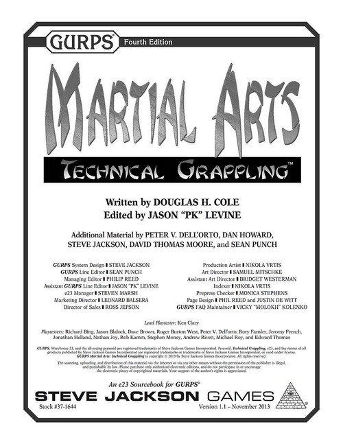 GURPS Martial Arts:Technical Grappling
