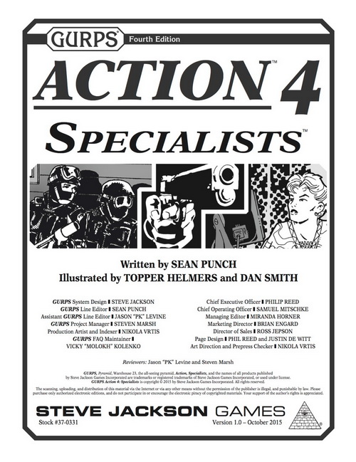 GURPS Actions 4: Specialists