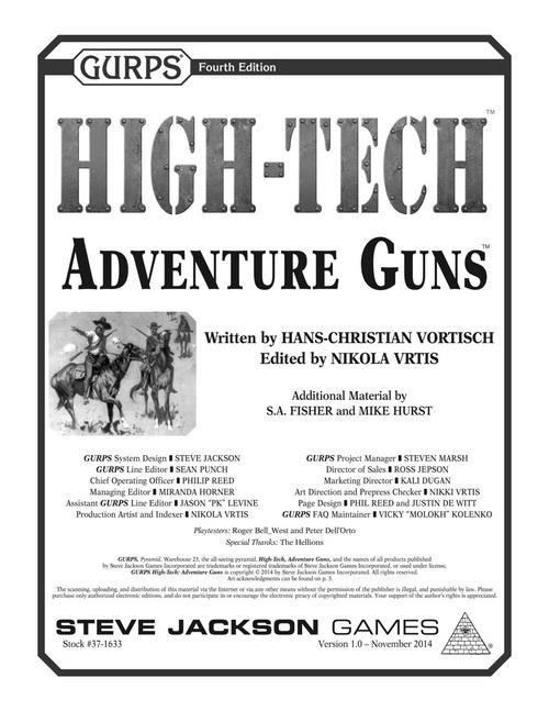 GURPS High-Tech: Adventure Guns