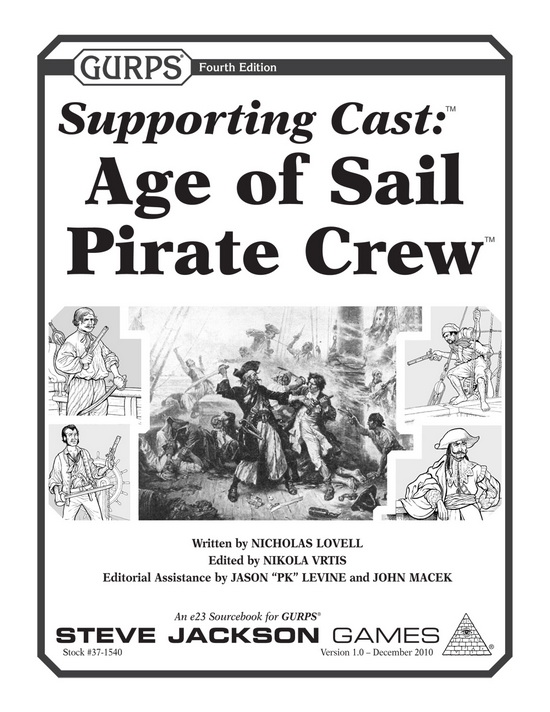 GURPS Supporting Cast: Age of Sail Pirate Crew