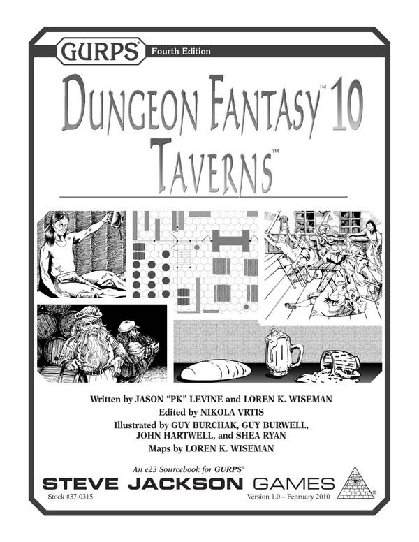 GURPS Dungeon Fantasy 10: Taverns