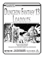 Dungeon Fantasy 13 Loadouts
