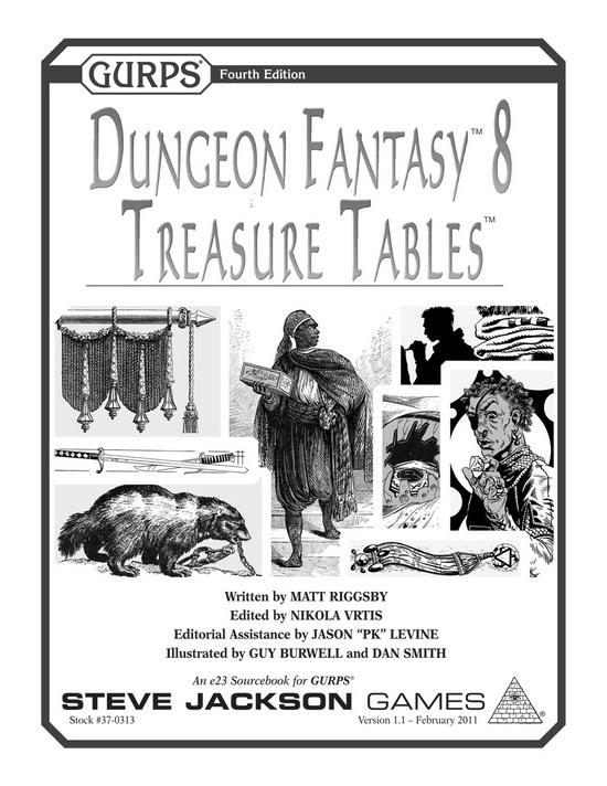 GURPS Dungeon Fantasy 8: Treasure Tables
