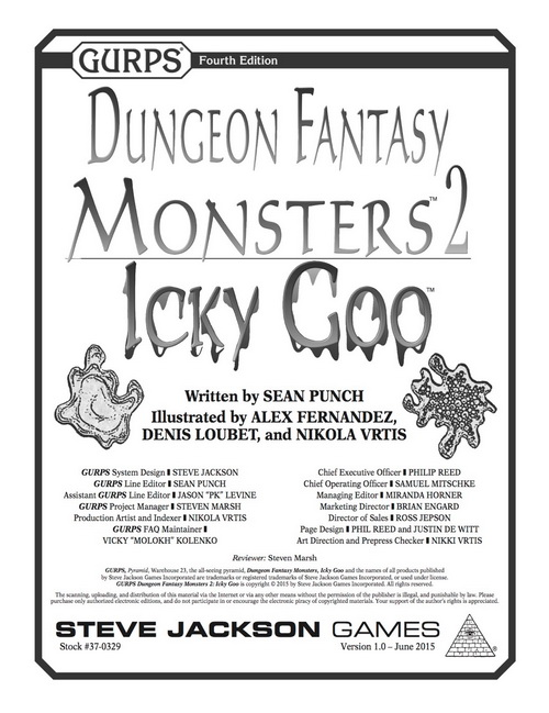 GURPS Dungeon Fantasy Mosters 2: Icky Goo