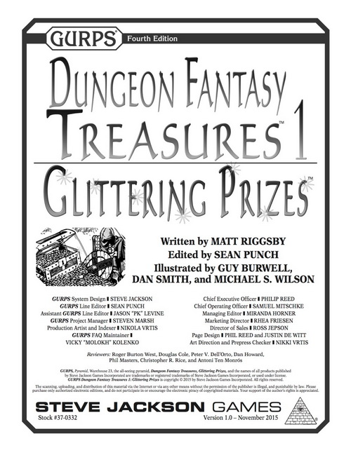 GURPS Dungeon Fantasy Treasures 1: Glittering Prizes
