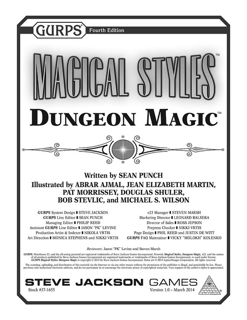 GURPS Magical Styles: Dungeons