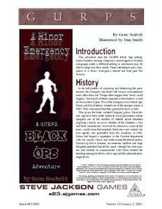 GURPS Black Ops: A Minor Emergency