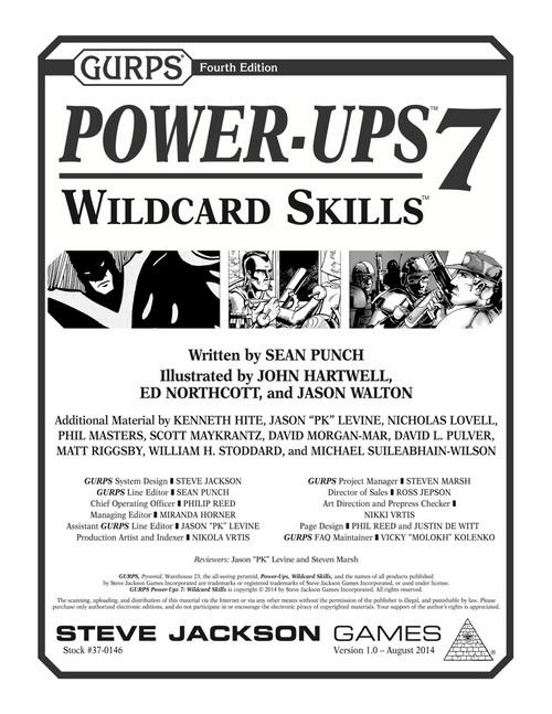 GURPS Power-Ups 7: Wildcard Skills