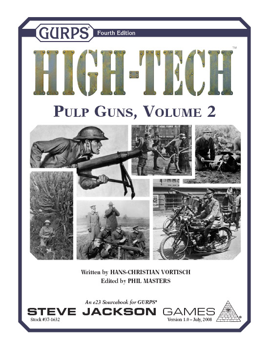 GURPS High-Tech: Pulp Guns 2