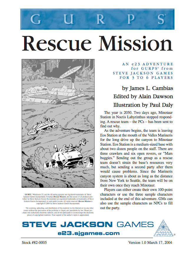 GURPS Rescue Mission