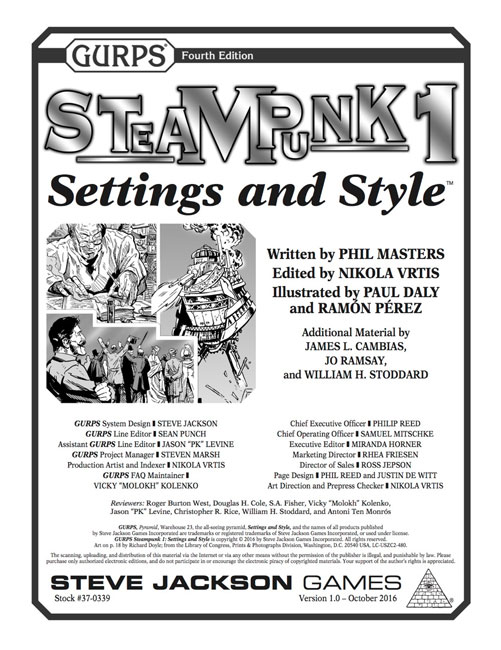 GURPS Steampunk 1: Setting and Style
