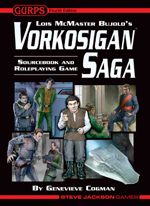 Vorkosigan Saga Sourcebook and Roleplaying Game Cover