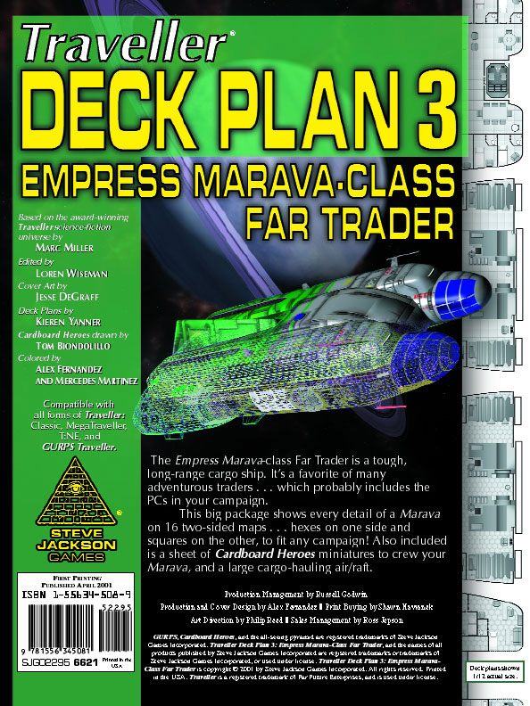 GURPS Traveller Deck Plan 3: Empress Marava-Class Far Trader
