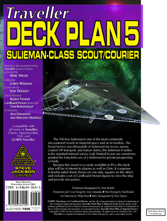 GURPS Traveller Deck Plan 5: Sulieman-Class Scout/Courier