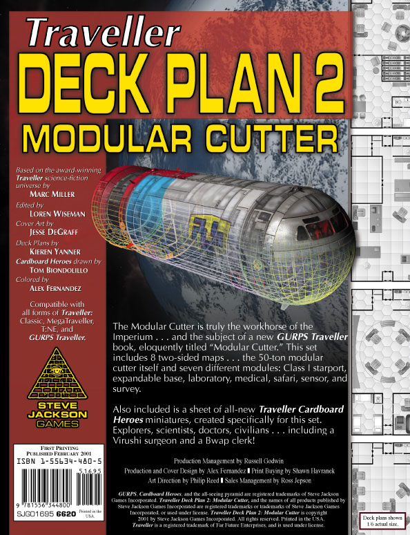 GURPS Traveller Deck Plan 2: Modular Cutter