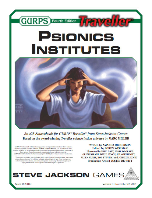 GURPS Traveller: Psionics Institutes