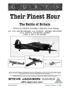 GURPS WWII: Their Finest Hour