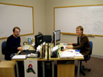 Thomas and Russ in their new office