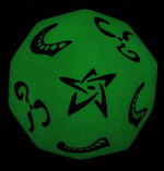 Glow in the dark Cthulhu die