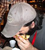 Matt and his burger