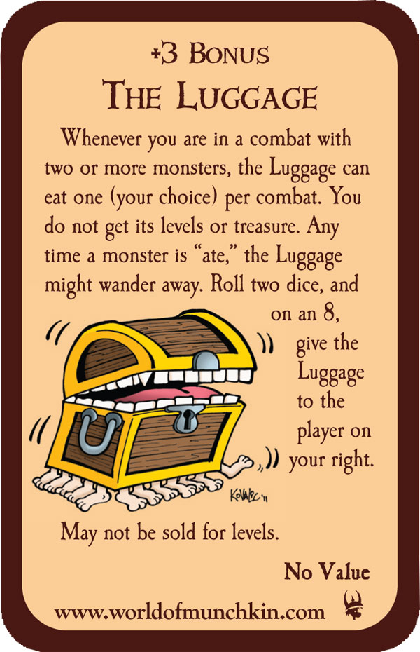 The Luggage Munchkin Promo Card
