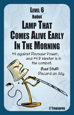 Munchkin Axe Cop Monster: Lamp That Comes Alive Early In The Morning