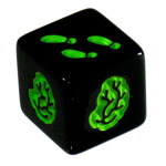 Zombie Dice Green Die