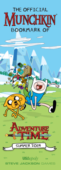 It's the Official Bookmark of Munchkin Adventure Time!