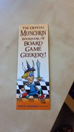 The Official Bookmark of Board Game Geekery