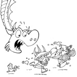 Spyke, Jr. and Florette nabbing treasure from a dragon!