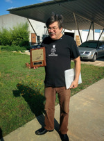 Steve Jackson with his Phoenix Award