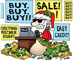 Even Santa likes free gifts!