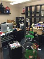 Phil's office during the flood cleanup