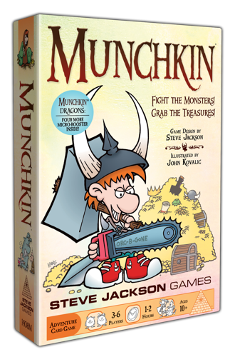 [Foil Munchkin with Dragons sticker]