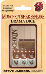 Munchkin Shakespeare Drama Dice