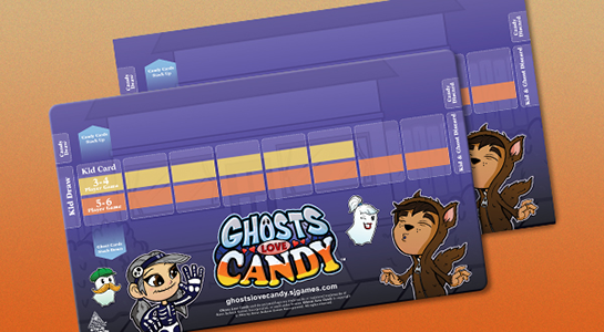 Ghosts Love Candy Playmat