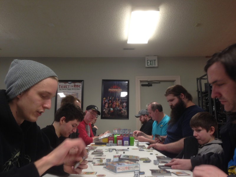 Playing the Munchkin Collectible Card Game at The Annex