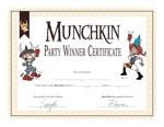 Munchkin Winner Certificate