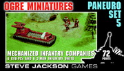 Ogre Miniatures Paneuropean Set 5 - Mechanized Infantry Companies